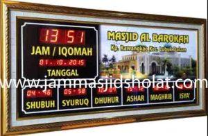 jual jam jadwal sholat digital masjid murah di cibitung barat