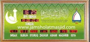 jual jam jadwal sholat digital masjid murah di cibubur barat