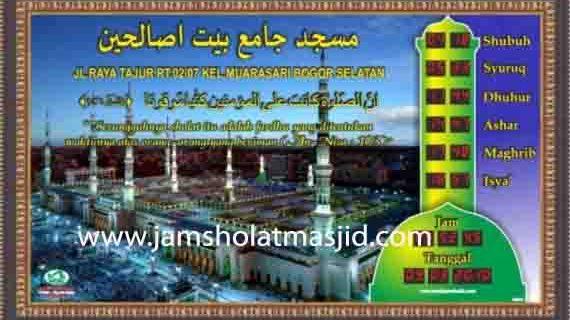 jual jam jadwal sholat digital masjid murah di cibubur selatan