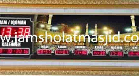 jual jam jadwal sholat digital masjid murah di cikampek pusat