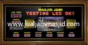 jual jam jadwal sholat digital masjid running text di ancol jakarta