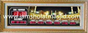 jual jam jadwal sholat digital masjid running text di bintara Jakarta