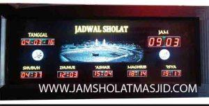 jual jam jadwal sholat digital masjid running text di bintaro Jakarta