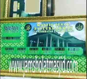 jual jam jadwal sholat digital masjid running text di halim jakarta
