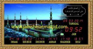 jual jam jadwal sholat digital masjid running text di kuningan Jakarta