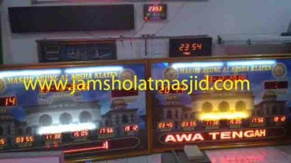 jual jam jadwal sholat digital masjid running text di pulau untung jawa jakarta