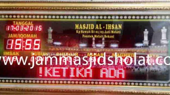 penjual jam jadwal sholat digital masjid running text di cikarang selatan