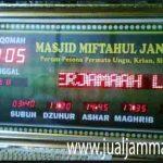 penjual jam jadwal sholat digital masjid running text di balikpapan pusat
