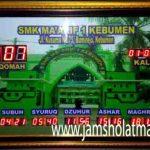 penjual jam jadwal sholat digital masjid running text di semarang pusat