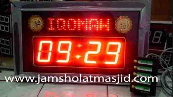 penjual jam jadwal sholat digital masjid running text di Kota Baru Bekasi