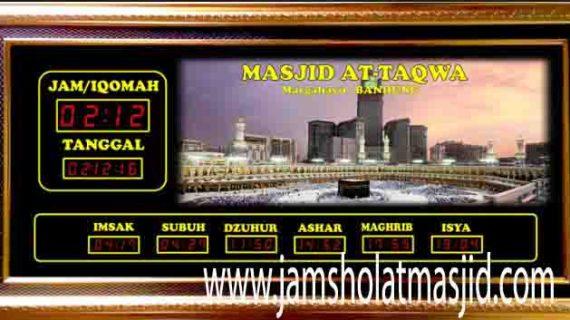 penjual jam jadwal sholat digital masjid running text di Pekayon Jaya bekasi