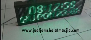 menjual jam jadwal sholat digital masjid running text di Duren Jaya Bekasi