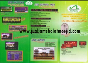 menjual jam jadwal sholat digital masjid di Jakasampurna Bekasi