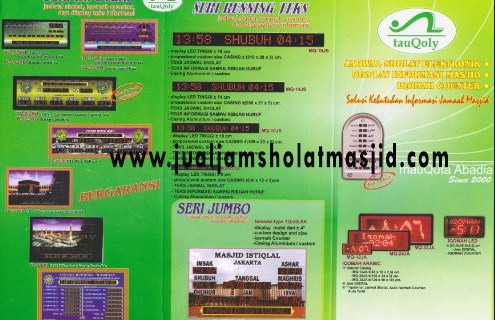 jam digital sholat masjid di cikarang
