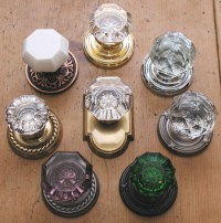Colored glass door knobs  Door Knobs
