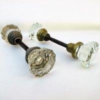 Vintage glass door knob  Door Knobs