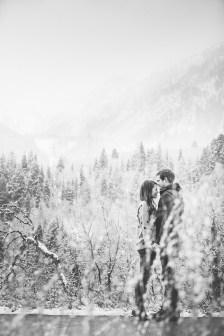 Snowy Engagements Utah