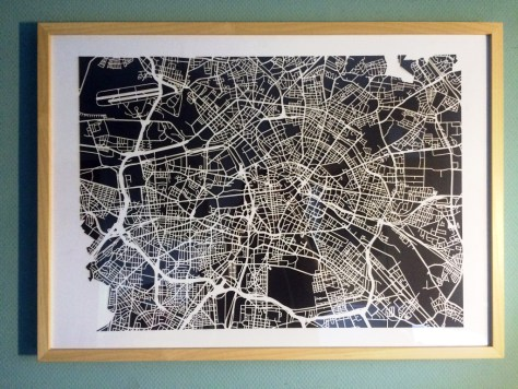 Papierkarte von Berlin