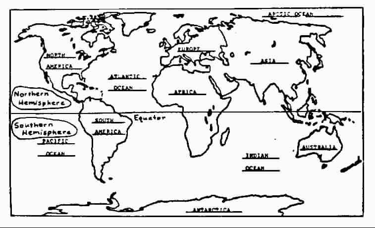 Northern Hemisphere Map Blank for Pinterest