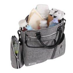 Bolso para bebé QPlay Practical Gris Claro JANABANANA