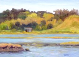 Shorebird Marsh, Corte Madera, Oil painting, 9x12""