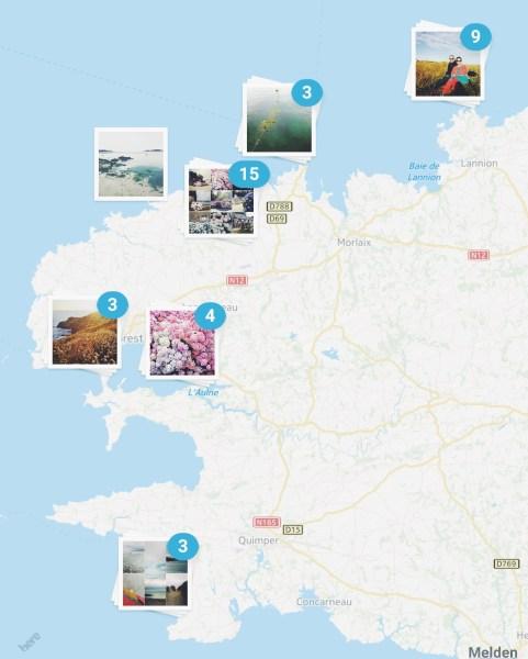 Reisefotografie, Landschaftsfotografie, Naturfotografie, Smartphone LGG3, Bretagne, Frankreich, Europa, Atlantik, Küste, Ozean, Collagen, Instagram