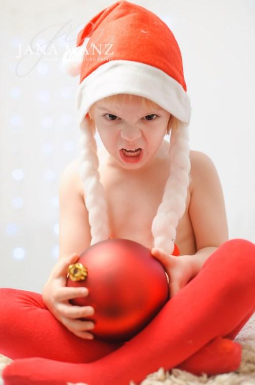Kinderfotografie als Weihnachtskarte