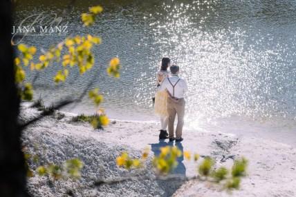 Romantisches Paar Fotoshooting