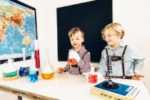 Fotoshooting: Kinderfotografie im Chemielabor - Experimente mit