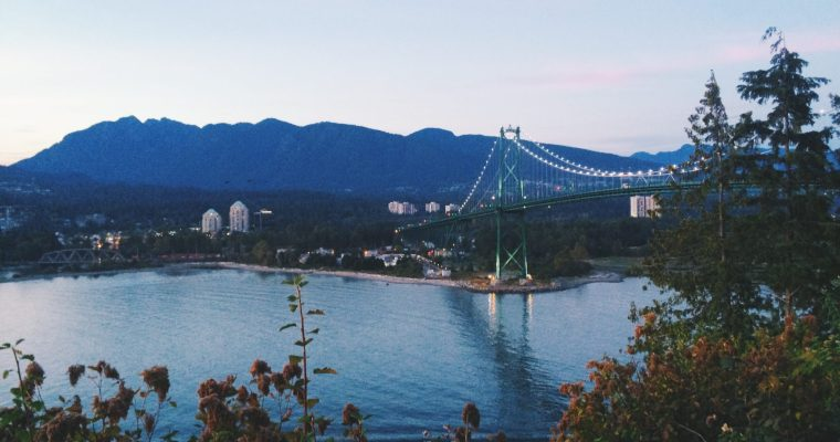 Where to Watch the Sunset in Vancouver: Lions Gate Bridge