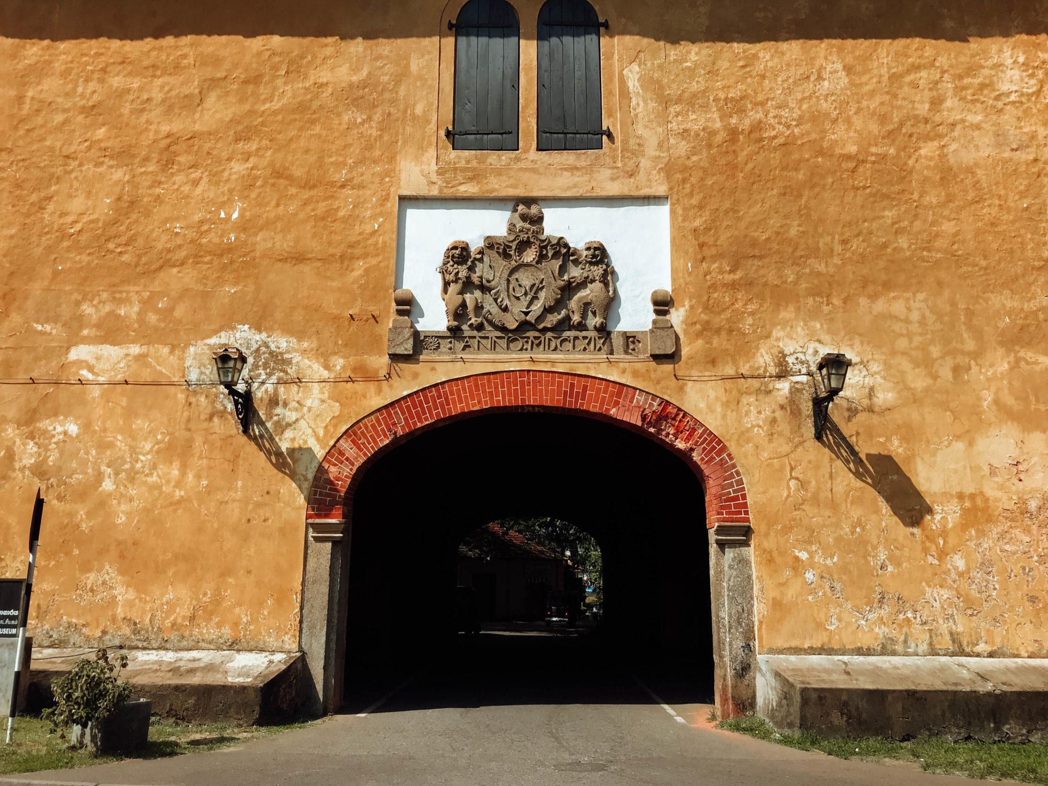 old gate, galle fort, sri lanka