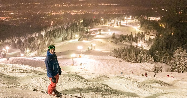 Night Skiing on Grouse Mountain