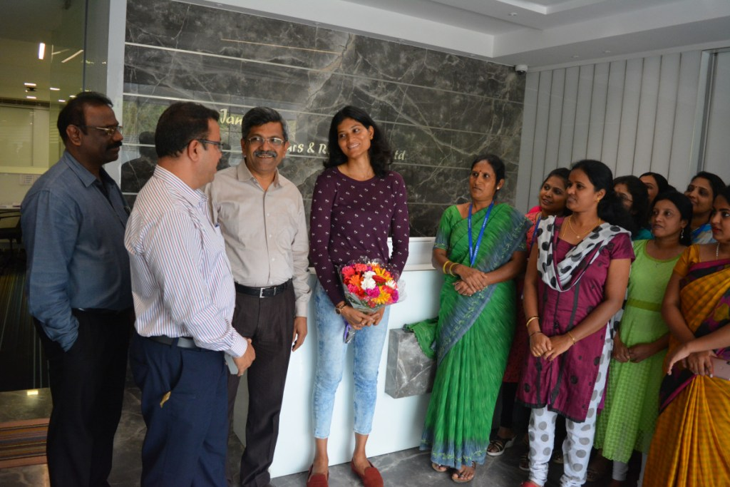 Sahana Kumari visits Janani Office