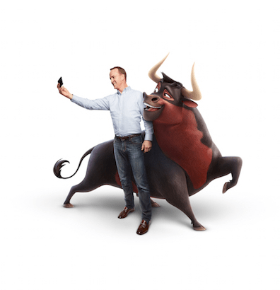 PEYTON MANNING IS THE VOICE OF 'GUAPO' THE BULL - Guapo acts like he's brimming with confidence but under that brash exterior, he's really a bundle of nerves! Thanks to Ferdinand, he learns to overcome his self-doubt.