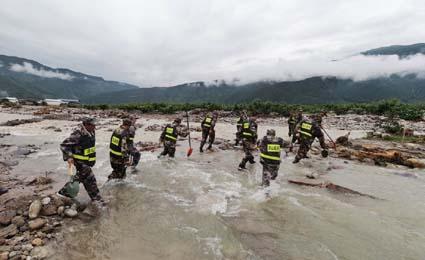 चीनमा वर्षाको कहर, १२ जनाको मृत्यु