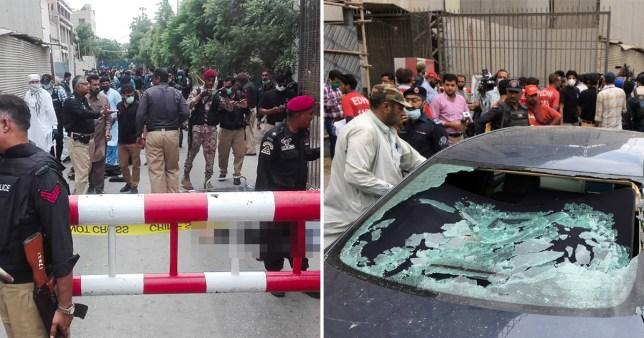 पाकिस्तान स्टक एक्सचेन्जमा आक्रमण