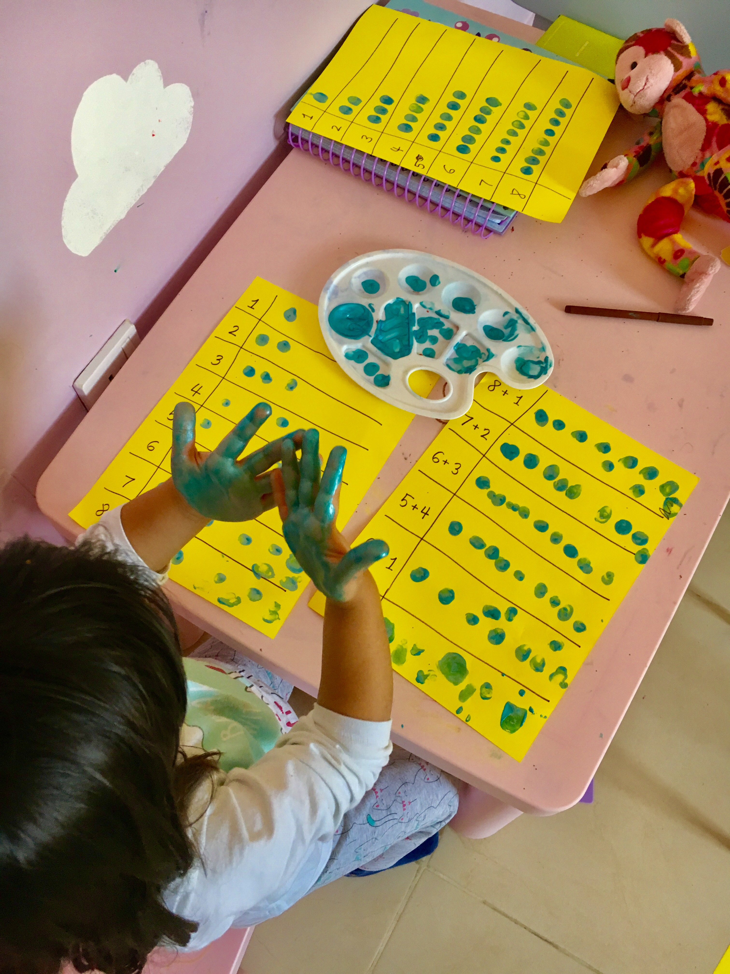 Counting With Finger Painting Toddler Activity Jana S