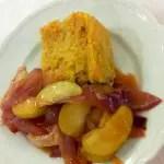 Kochbuchmittwoch: Putenbrust mit Apfel-Sahne-Sauce und Bulgur-Gratin