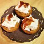 Recipe: Pumpkin Caramel Cupcakes with Salty Caramel Cream Cheese Topping