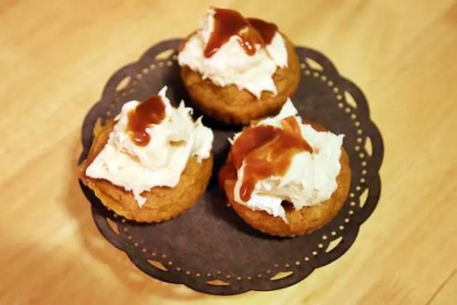 janavar.net   Recipe: Pumpkin Caramel Cupcakes with Salty Caramel Cream Cheese Topping