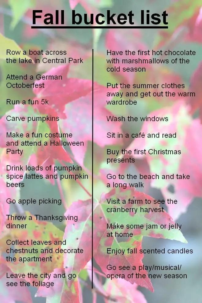 Fall Bucket List - 20 Things to Do This Fall | janavar