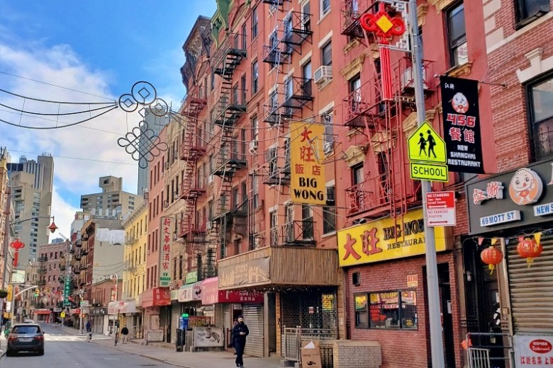 Chinatown in NYC, also totally empty these days