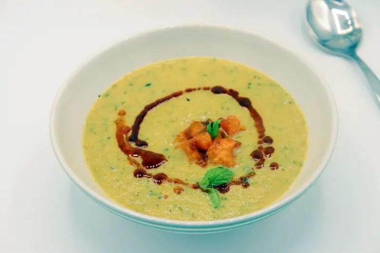 Seasonal Eats Better: Zucchini Soup with Fried Apricots - Recipe