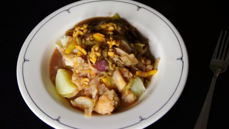 Recipe: Early Fall Vegan Savoy Cabbage Stew | janavar