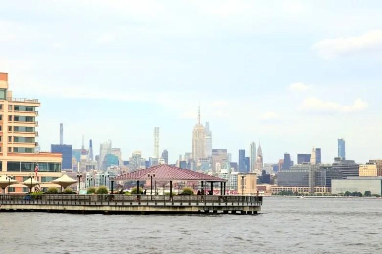Hudson River Waterfront Parkway with Manhattan Skyline in background - Quick Trip to Jersey City | janavar