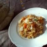 Kochbuchmittwoch: Kürbis-Risotto mit Esskastanien