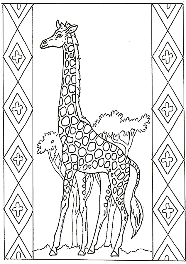 free printable coloring pages giraffe 2015