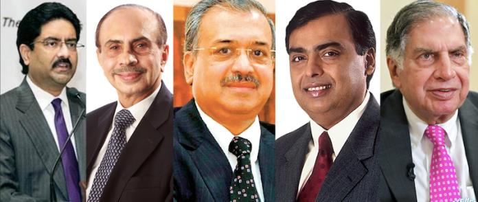 भारतीय कारपोरेट के चेहरे।