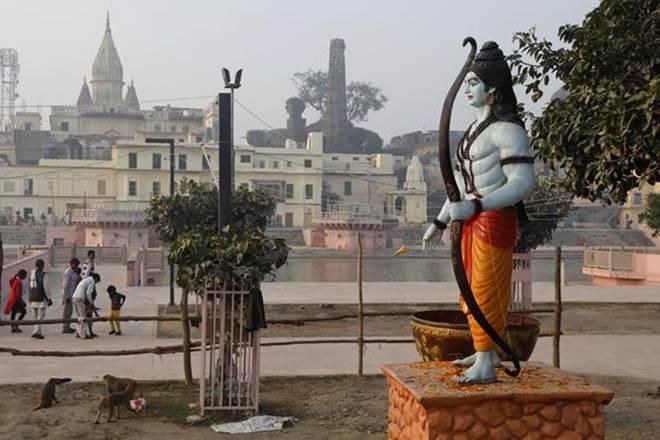 अयोध्या में राम की मूर्ति।