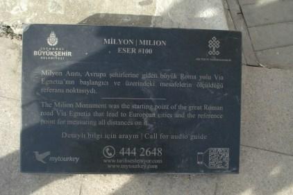 Milion, spomen ploča - Milion Stone, Commemorative plaques